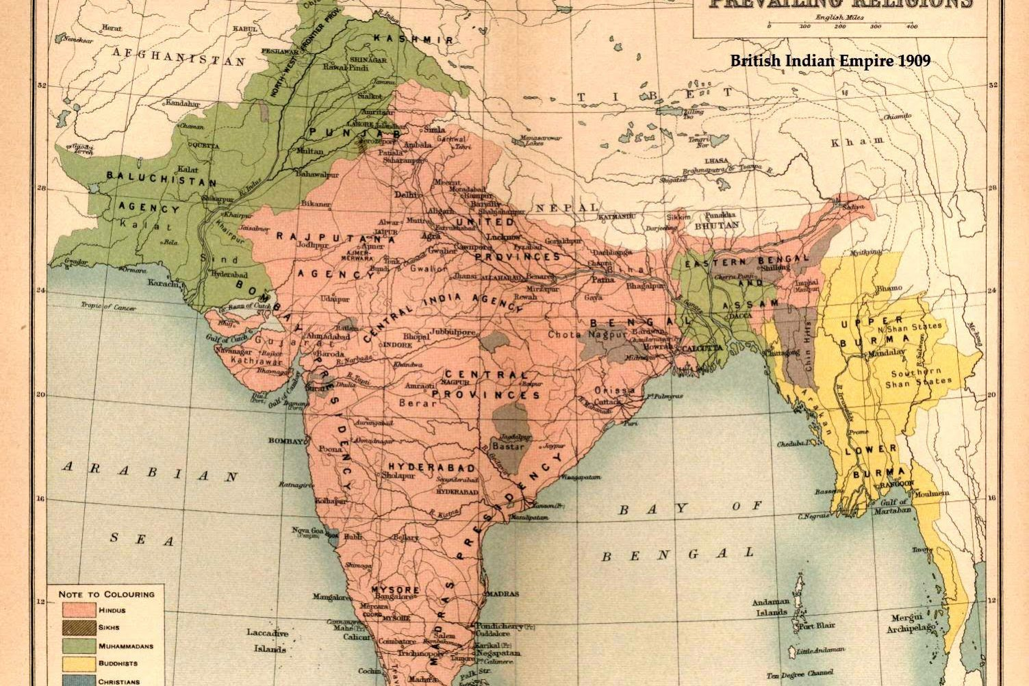 Religion Map Of Asia.Religion And Nationhood In South Asia Al Talib