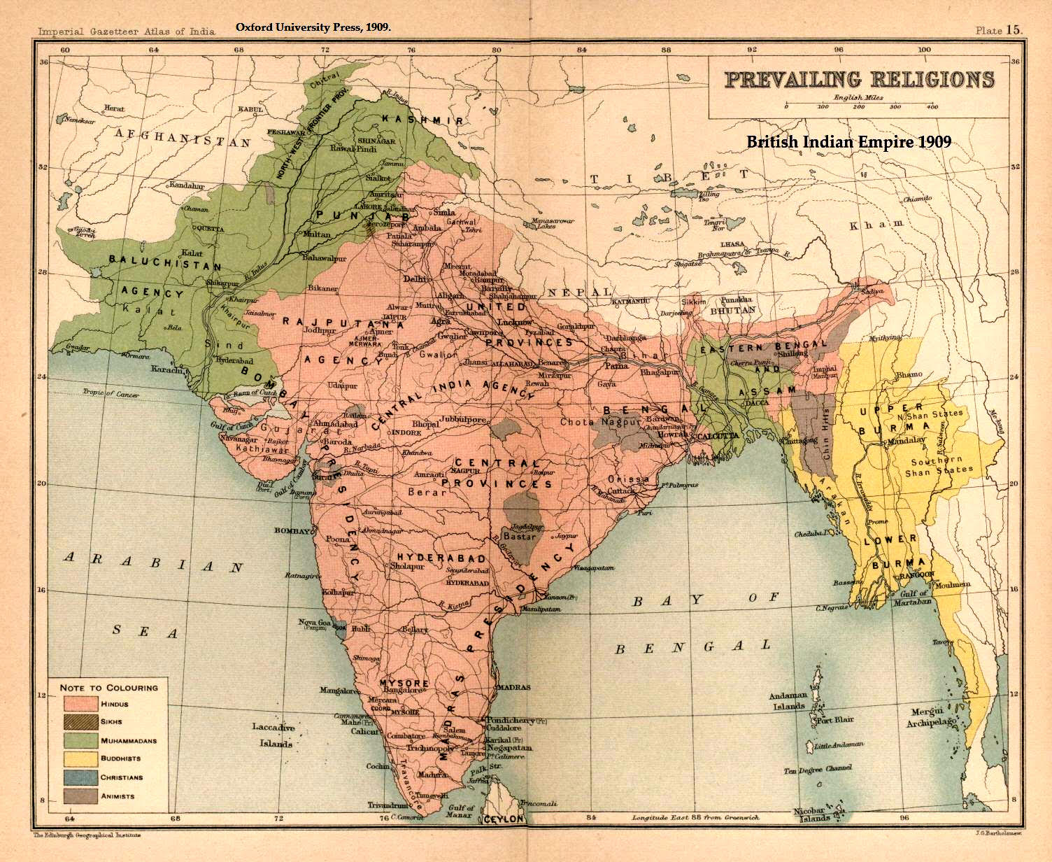 Religion Map Of South Asia.Religion And Nationhood In South Asia Al Talib
